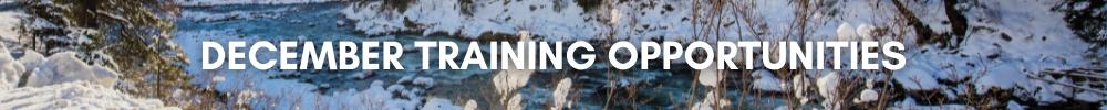 December Training Opportunities