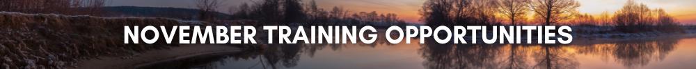 November Training Opportunities