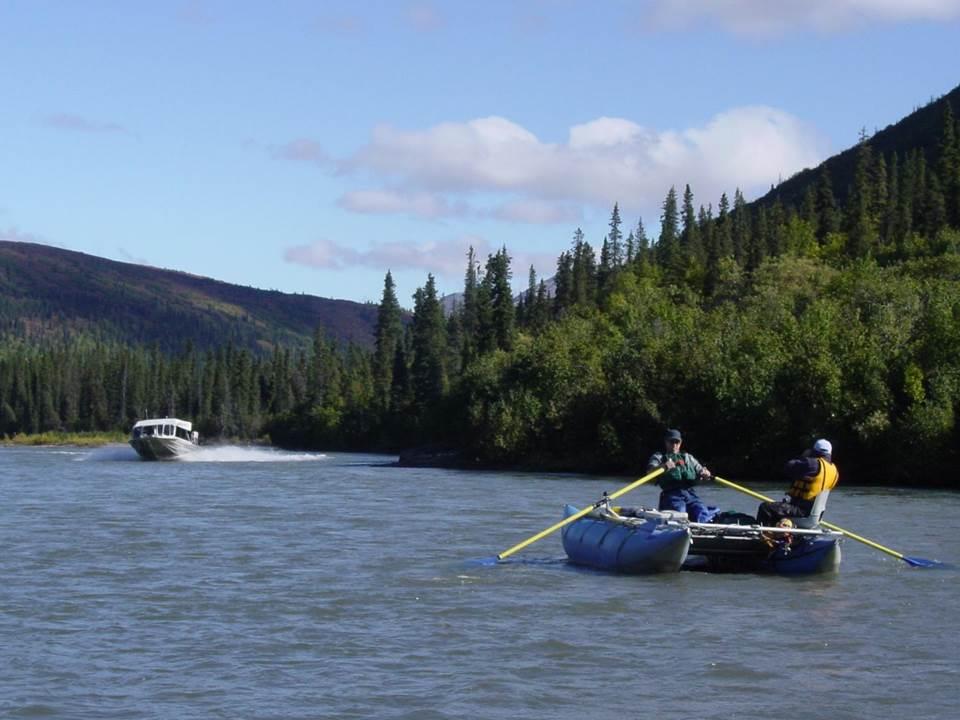 User Conflicts. Nenana River, Alaska. Photo by Doug Whittaker.